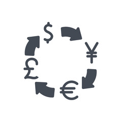 Trading Business Exhange Currency silhouette Icon