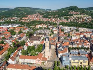 Luftaufnahme von Jena Stadtzentrum