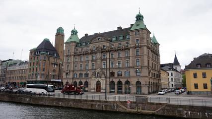 MALMO, SWEDEN - MAY 31, 2017: palace of Försäkrings AB Skånes hus in the street Norra Vallgatan 64, Malmö, Sweden