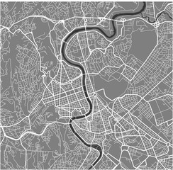 map of the city of Rome, Italy
