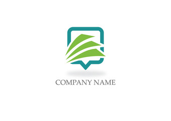 paper data file square business logo
