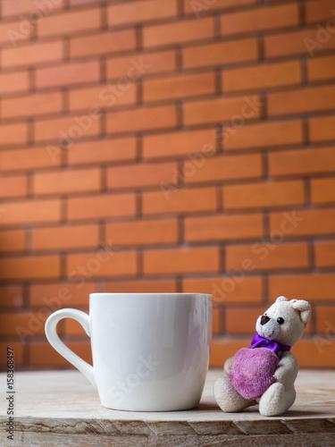 Teddy HeartNext The A White Holding Purple To Bear rtQxshdC