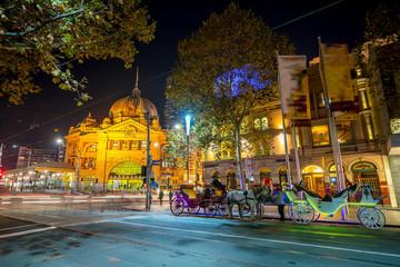 Fototapete - Downtown Melbourne city