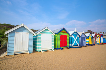 Colorful Beach House at Brighton Beach, Melbourne