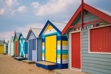 Printed kitchen splashbacks Australia Colorful Beach House at Brighton Beach, Melbourne