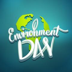 World environment day hand lettering design. Vector illustration