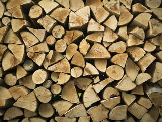 Poster de jardin Texture de bois de chauffage Firewood texture