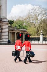 Guard changing, Buckingham Palace, London, UK