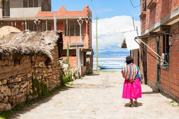 Island of Sun (Isla del Sol), Titicaca lake, Bolivia
