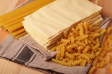 Assorted types of pasta