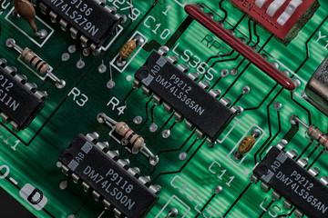 Printed circuit board backlit, circa 1981