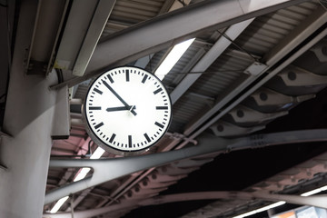 Clock at the BTS Station.