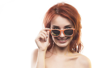 the redhead girl in sunglasses type 5