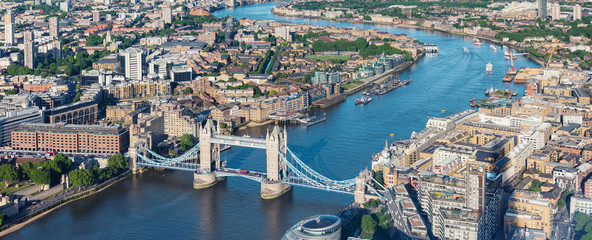 Keuken foto achterwand Londen London aerial view with Tower Bridge