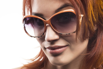 the redhead girl in sunglasses type 11