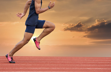 side a man start run on track
