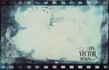 Vector Grunge Frame . Large Distressed Texture . Decorative Vintage Weathered Border. Great Grunge Background Or Retro Design Decor Element.
