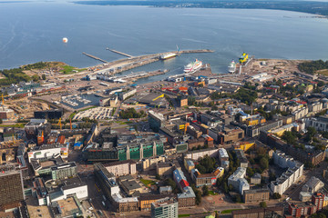 TALLINN, ESTONIA - AUGUST 15, 2016: Cruise ships in harbor