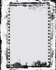 Grunge Frame – Large Distressed Texture . Decorative Vector Vintage Weathered Border. Great Grunge Background Or Retro Design Decor Element.