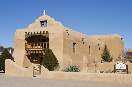 Saint Thomas The Apostle Church in Abiquiu, New Mexico