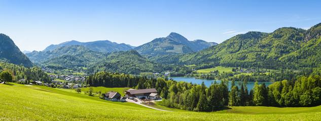 Great view over Fuschlsee, Salzburg, Austria