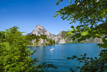 Lake Traunsee and Traunkirchen, Salzkammergut, Upper Austria, Austria