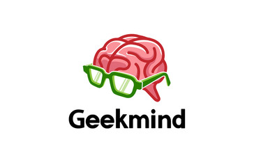 Geek Mind Logo Design Illustration