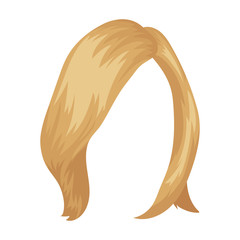 shortWhite .Back hairstyle single icon in cartoon style vector symbol stock illustration web.
