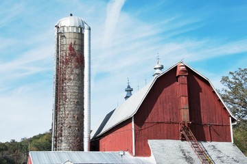 Barn and Tall Silo