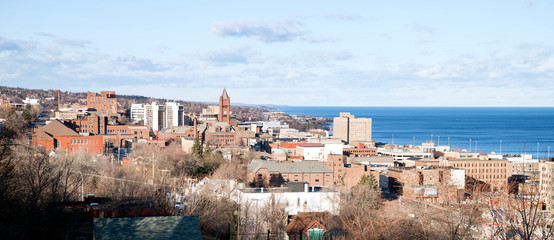 Duluth Minnesota Downtown City Skyline Port City Lake Superior