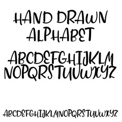 Handwritten vector alphabet. Modern calligraphy font for your design