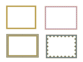 square elegant frame.. Vector Illustration.. Collection set