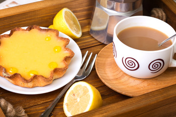 lemon tarts and coffee