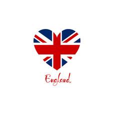 Britain england united kingdom flag heart shape