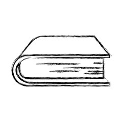 monochrome blurred silhouette of thick book vector illustration