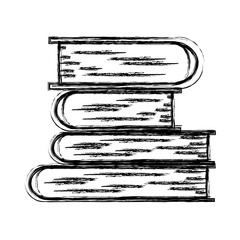 monochrome blurred silhouette of stack of books vector illustration