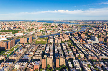 Aerial view of Harlem, NYC