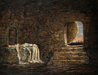 The Empty Tomb Painting