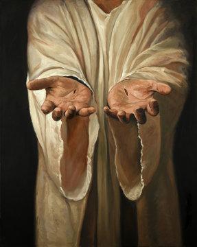 Hands of Jesus Painting
