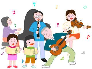 家族で演奏会