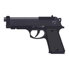 Pistol gun, automatic modern handgun.