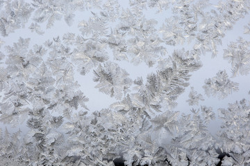 background frost on glass