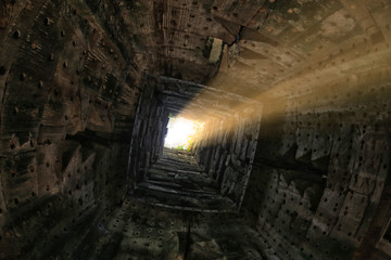 The ancient architecture of Angkor Wat, Cambodia