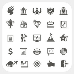Business icons set, EPS10, Don't use transparency.