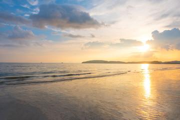 Beach with Sunset at Krabi, Thailand