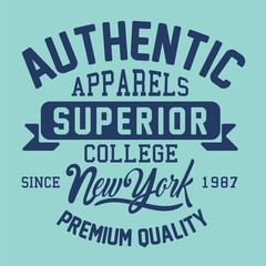 athletic varsity college typography, illustration, vectors