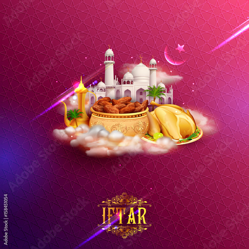 Iftar party invitation greeting with mosque for islam religious iftar party invitation greeting with mosque for islam religious festival eid on holy month of ramadan stopboris Images