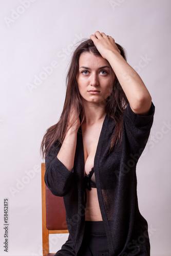 Bent over nude in public
