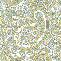 vintage paisley pattern in indian batik style. floral vector background