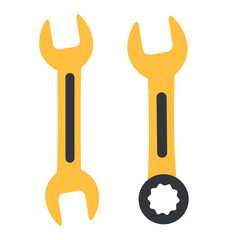 Cartoon wrench icons